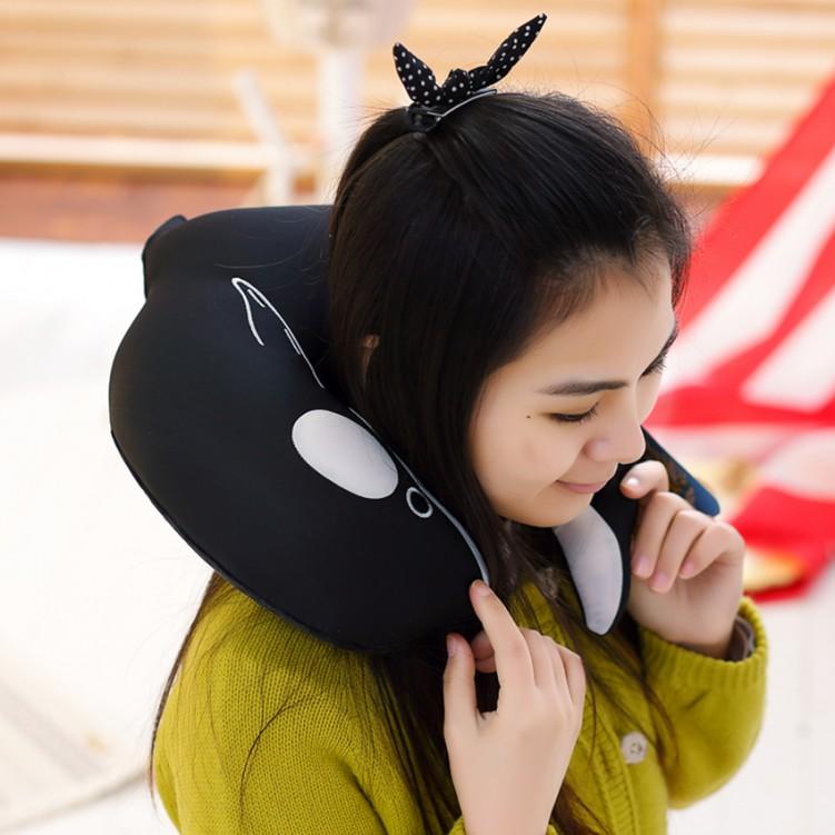 Cartoon Dolphin U-Shape Pillow
