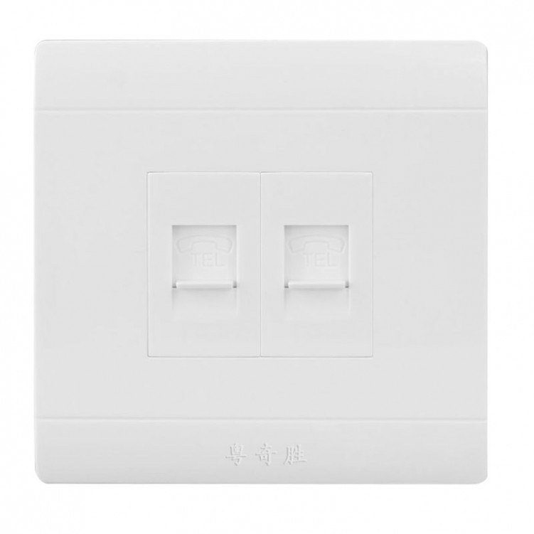 Double Telephone Socket Outlet