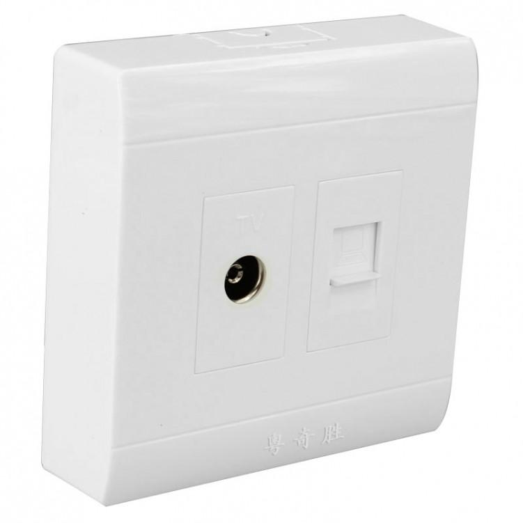 TV & Internet Socket Outlet