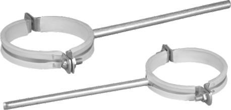 Pipe Clamp (Plastic + Steel) White, PVC-U Drainage