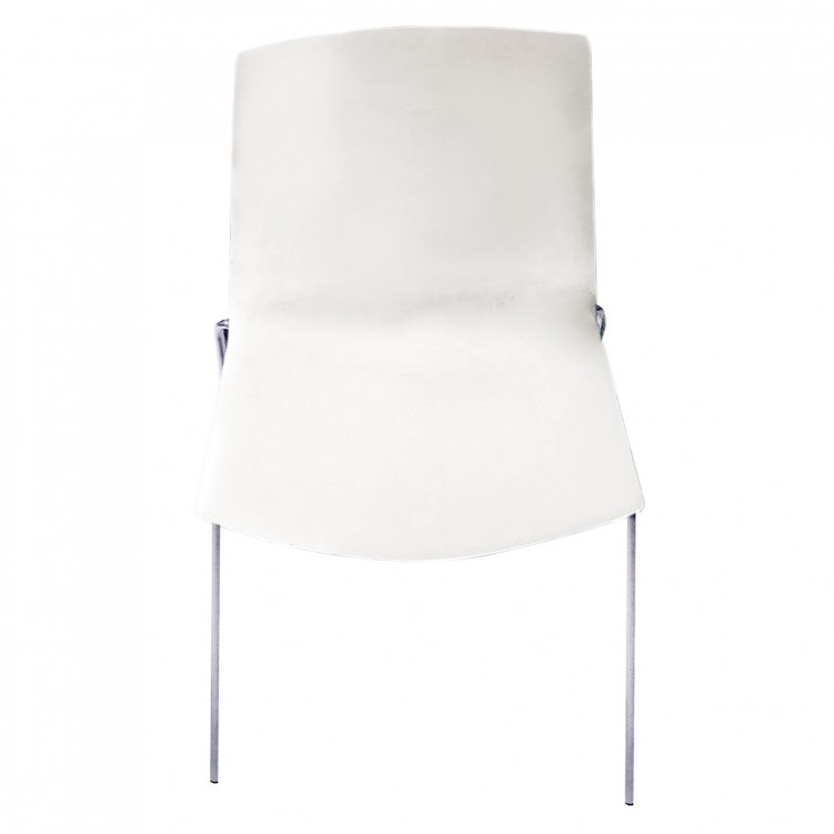 LESSO HOME White Plastic  Side Chair with Steel Legs