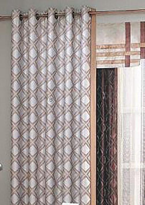 Seattle Style Grey Yarn-dyed Jacquard Curtains Set