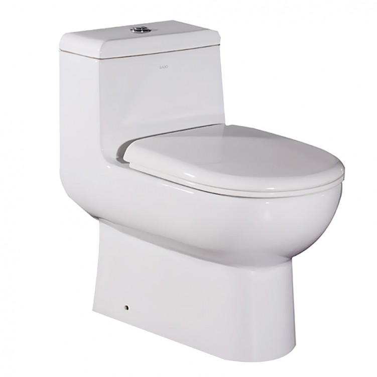 EAGO  UPC Watersense One Piece Ceramic S-trap Dual Flush Toilet