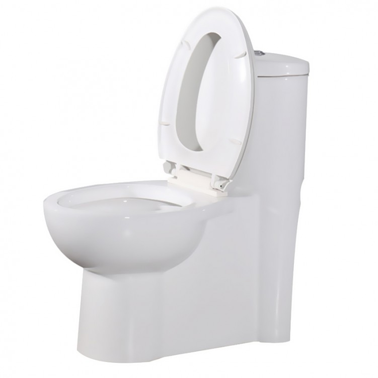 EAGO Siphonic OnePiece Ceramic Floor Mounted S-Trap Dual Flusing Toilet