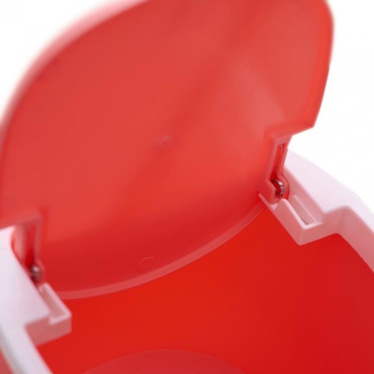 PP Desktop Small Plastic Waste Bin with Swing Lid