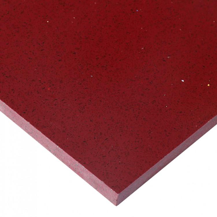 Classical Red Quartz Slab, Star Red