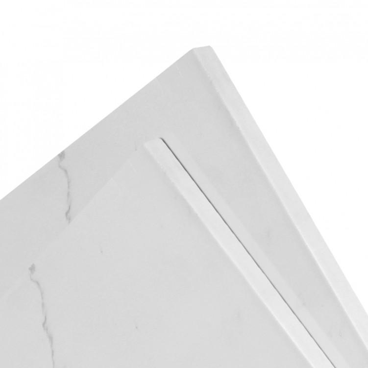Quartz Slab, Calacatta Natural Pattern