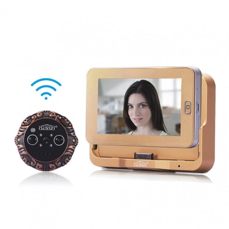 Smart WiFi Peephole Doorbell With Infrared Cat Eye ZJA-M200