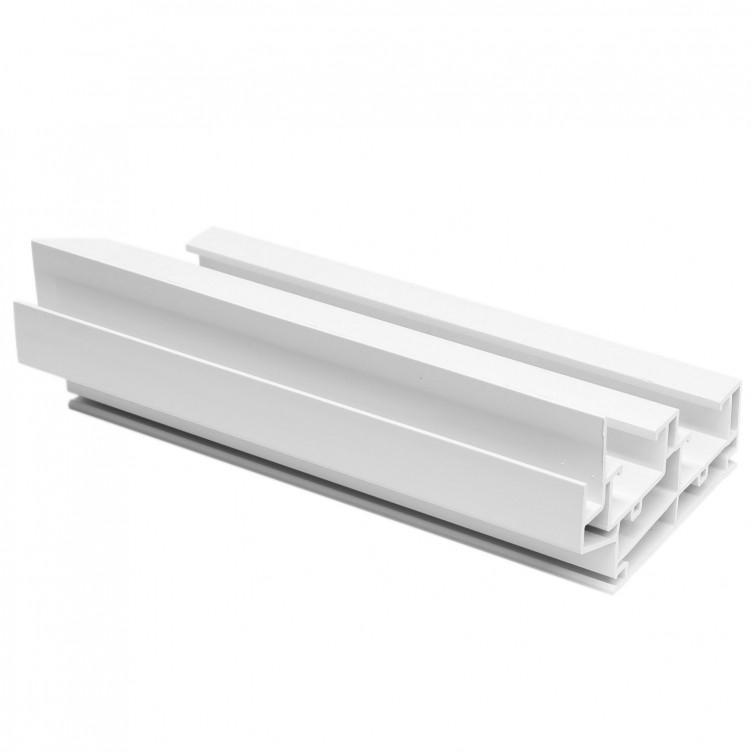 5.92M Long Double Hung Frame, White Plastic Profile