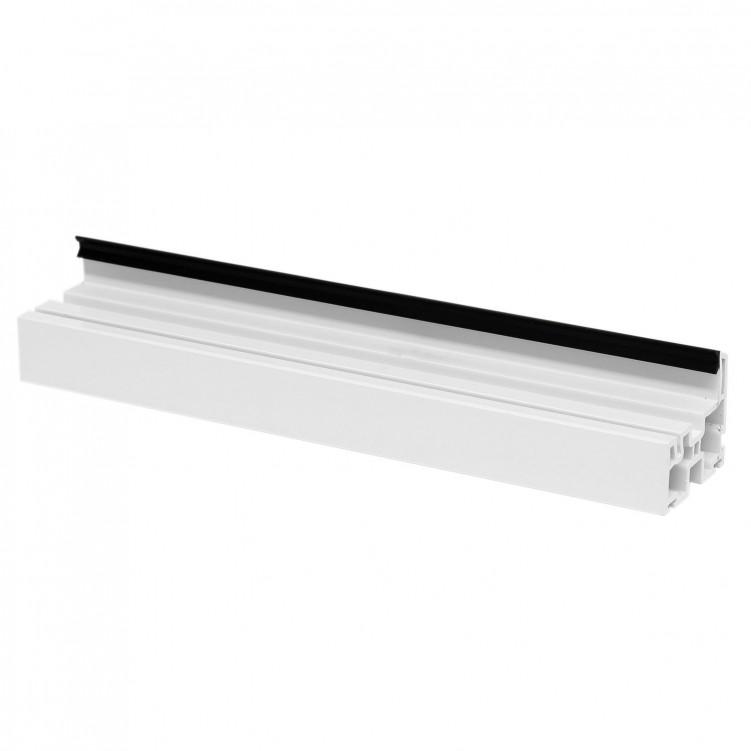 5.92M Long Double Hung Sash, White Plastic Profile