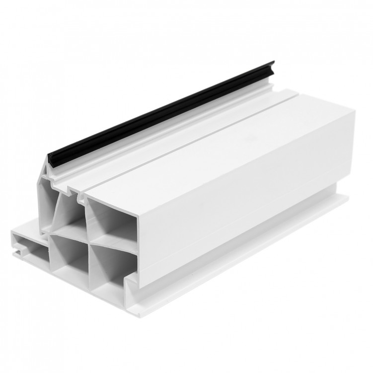 5.92M Long High Fixed Frame, White Plastic Profile