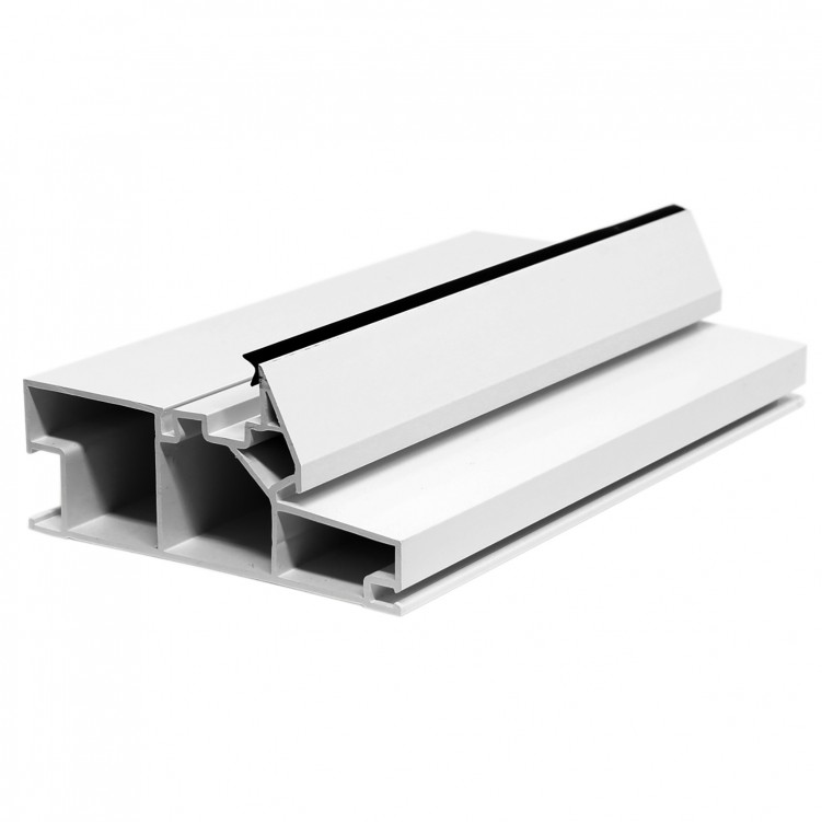 5.92M Long Low Fixed Frame, White Plastic Profile