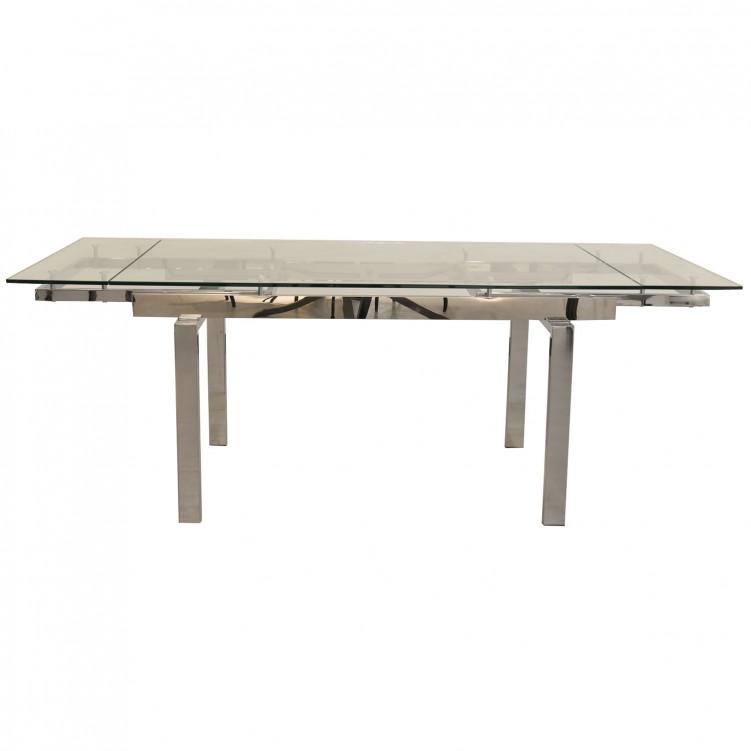 LESSO HOME Extendable Glass Dining Table