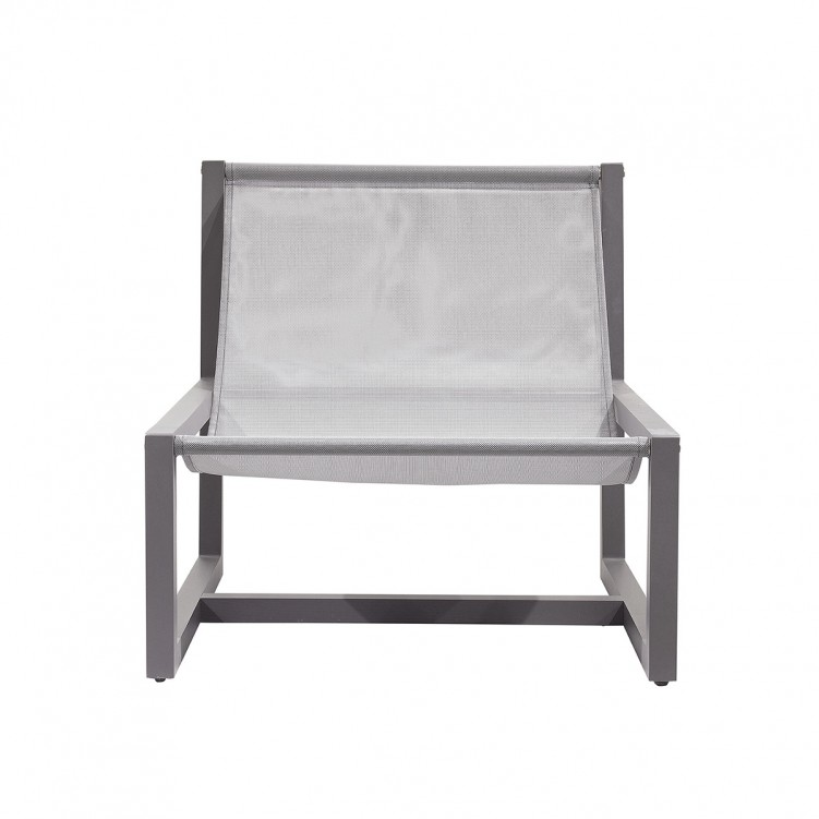 LESSO HOME Gray  Batyline Patio Dining Chair, Aluminum Frame