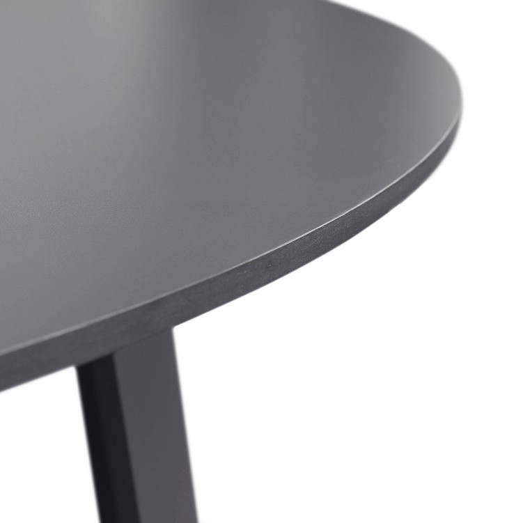 LESSO HOME Round Black Wood Coffee Table