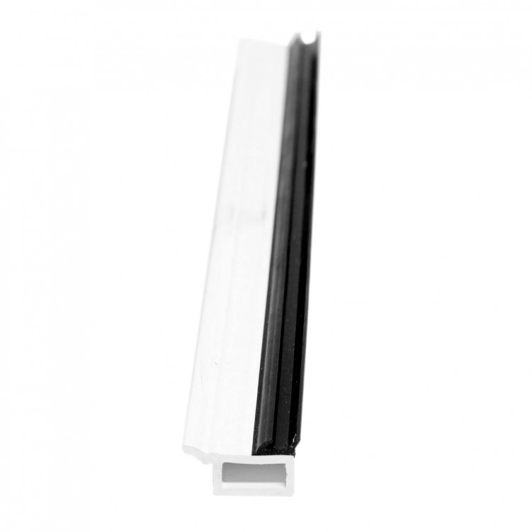 5.92M Long Mian Glazing Bead, White Plastic Profile