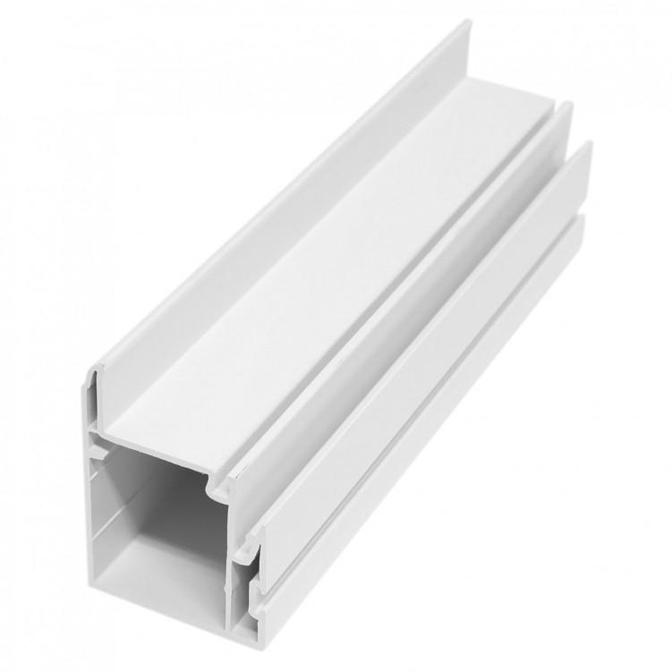 4.4M Long Inner Interlock, White Plastic Profile
