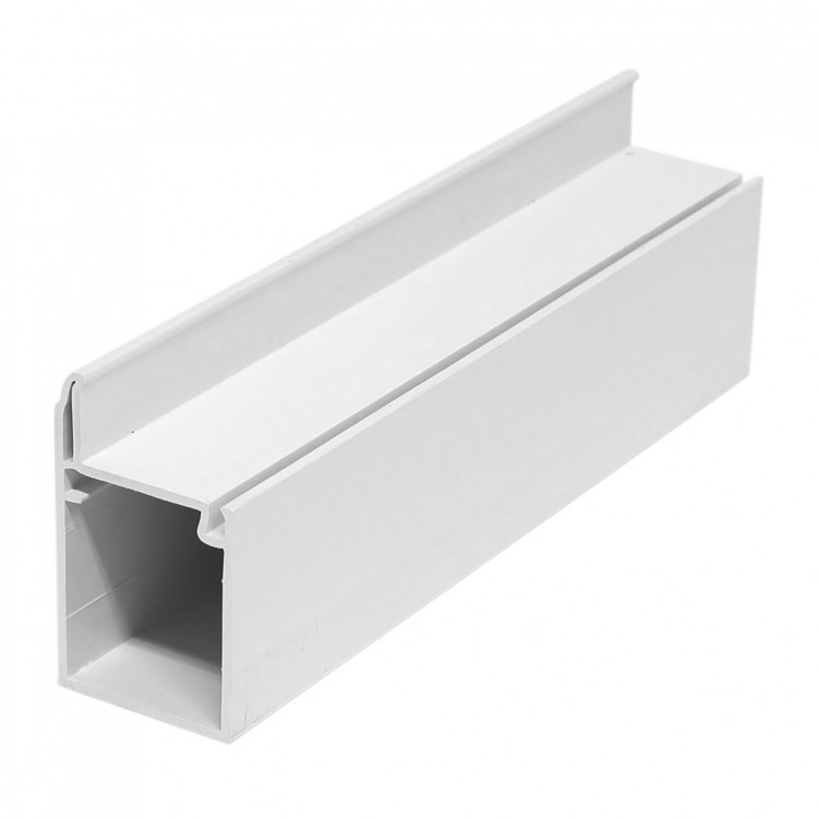 4M Long Common Sash, White Plastic Profile