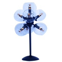 Satin Black Clear Glass Shade Table Lights