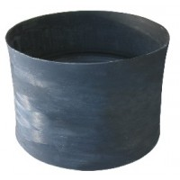 HDPE Double-Wall Corrugated Injection Coupling (glass fiber reinforced plastics) Black