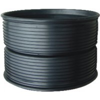 SN8 HDPE Double-Wall Corrugated Injection Coupling  Black