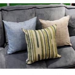 Printed & Brushed Cushion Grey