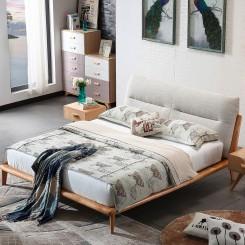 Grey Fabric Platform Bed