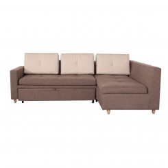 LESSO HOME Folding Sofa Bed, 3 Seater Gray Fabric