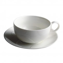 Porcelain Coffee Cup with Saucer
