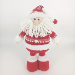 Weishideng Christmas Decoration Fabric Santa Doll Red&White FG01-73A