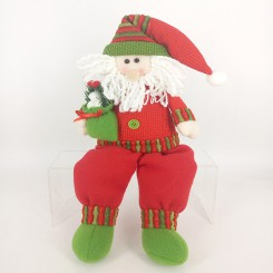 Weishideng Christmas Decorations Fabric Santa Doll Red&Green FG01-906A