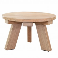 LESSO HOME Outdoor Round Coffee Table, Wood-Plastic
