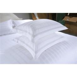 Cotton Stripe Hotel Home Textile Soft Pillow Case White