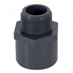 ASTM PVC Water SCH80 Male Adapter (SXM) Dark Gray