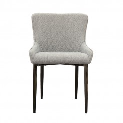 LESSO HOME Gray Fabric Dining Chair with Metal Stools