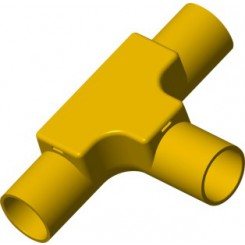 TIS PVC-U  Conduit Inspection Tee Yellow