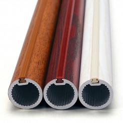 Wood Print Al Alloy Curtain Rod
