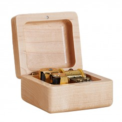 Wooden Mechanism Music Box Square
