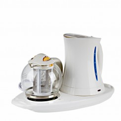 2L Electric Kettle with Water Level Scale and Teapot