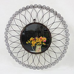 Decorative Metal Flower Wall Mirror