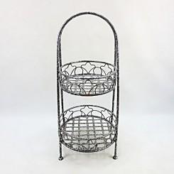 2 Tiers Metal Storage Basket