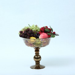Compote Bowl Centerpiece Glass Antique Pedestal Vase