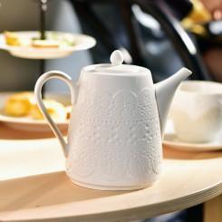 Teapot with Relief European Style 800CC White