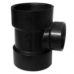 ASTM ABS DWV Reducing Vent Tee Black
