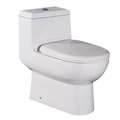 EAGO  UPC Watersense One Piece Ceramic S-trap Dual Flush Toilet