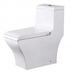 EAGO Siphonic One Piece Toilet Ceramic Floor Mount Toilet Water Closet