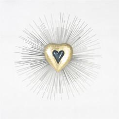 Homeydecor Metal Wall Decor Gold Loving Heart ZL65356