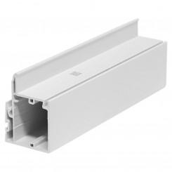 4.4M Long Outer Interlock, White Plastic Profile