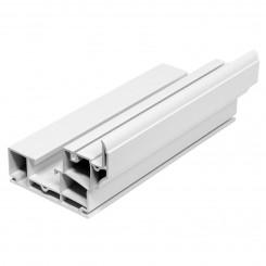 5.92M Long Single Hung Frame, White Plastic Profile