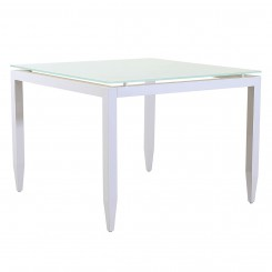 LESSO HOME  Glass Dining Table with Aluminum Frame